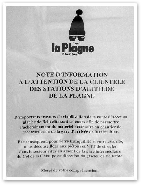 Actualit s de la plagne en 2005 www perso la - Office du tourisme la plagne bellecote ...